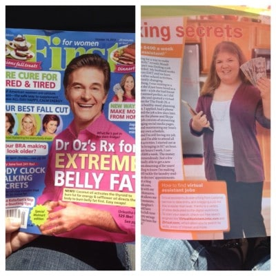 I'm In The October 14th Issue of FIRST For Women Magazine!