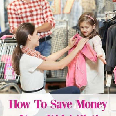 How To Save Money on Your Kids' Clothes