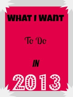 13 Things I Want To Do In 2013