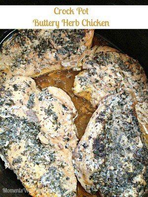 Buttery Herb Crock Pot Chicken
