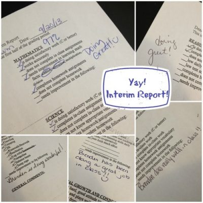 Yay! We Have Our First Interim Report!