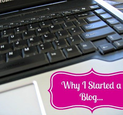 Why I Started a Blog…