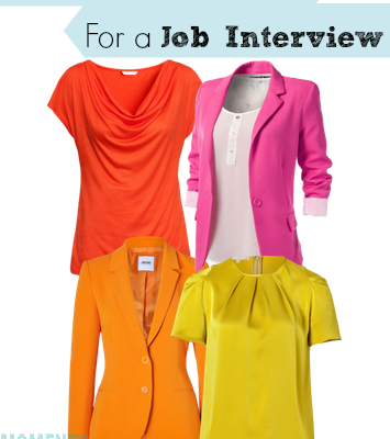 What Colors to AVOID For A Job Interview