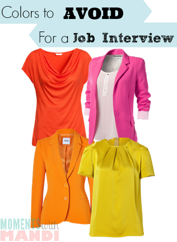 Colors to avoid for a job interview