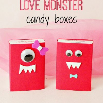 DIY Love Monster Candy Box Valentine's