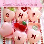 Dollar Store DIY: Sound Matching Valentine Hearts