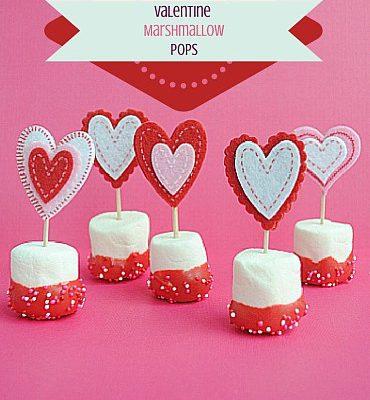 Valentine Marshmallow Pops