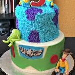 The Toy Story plus Monsters Inc plus Despicable Me Birthday Cake!