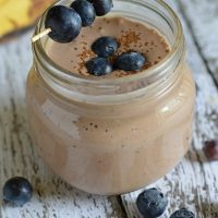 Blueberry Banana Nutella Smoothie