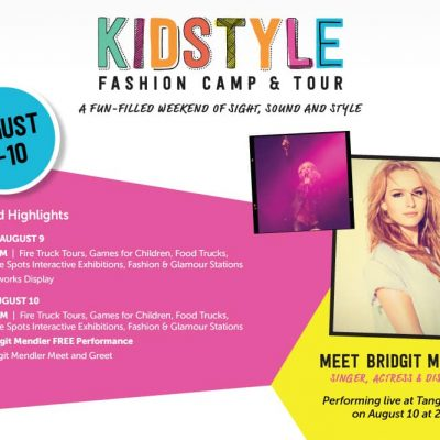 KidStyle Fashion Camp and Tour at Tanger Outlets Featuring Bridgit Mendler!
