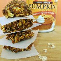 No Bake Spiced Pumpkin Oatmeal Cookies