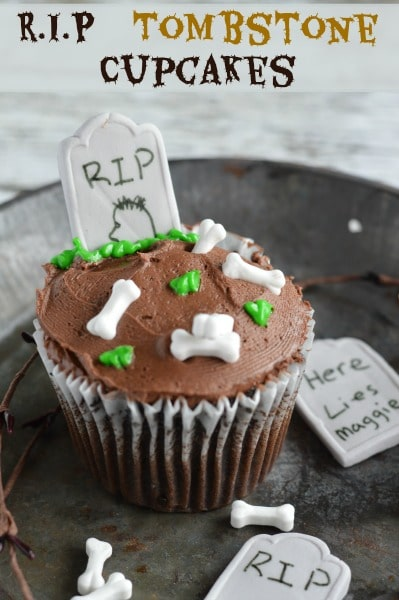 ... Halloween treats and these RIP Tombstone Cupcakes are perfect for