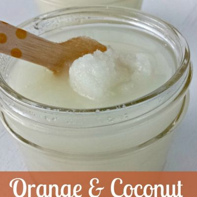Orange Coconut Sugar Scrub + Free Printable Tag