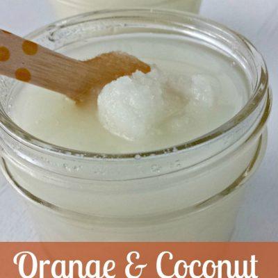 Orange Coconut Sugar Scrub + Free Printable Tag