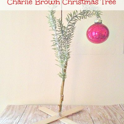 Dollar Store DIY: Charlie Brown Christmas Tree