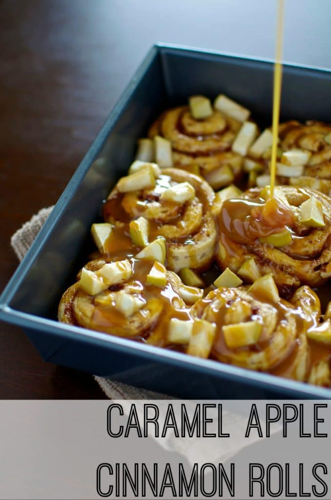 Caramel Apple Cinnamon Rolls Simple Breakfast Recipe