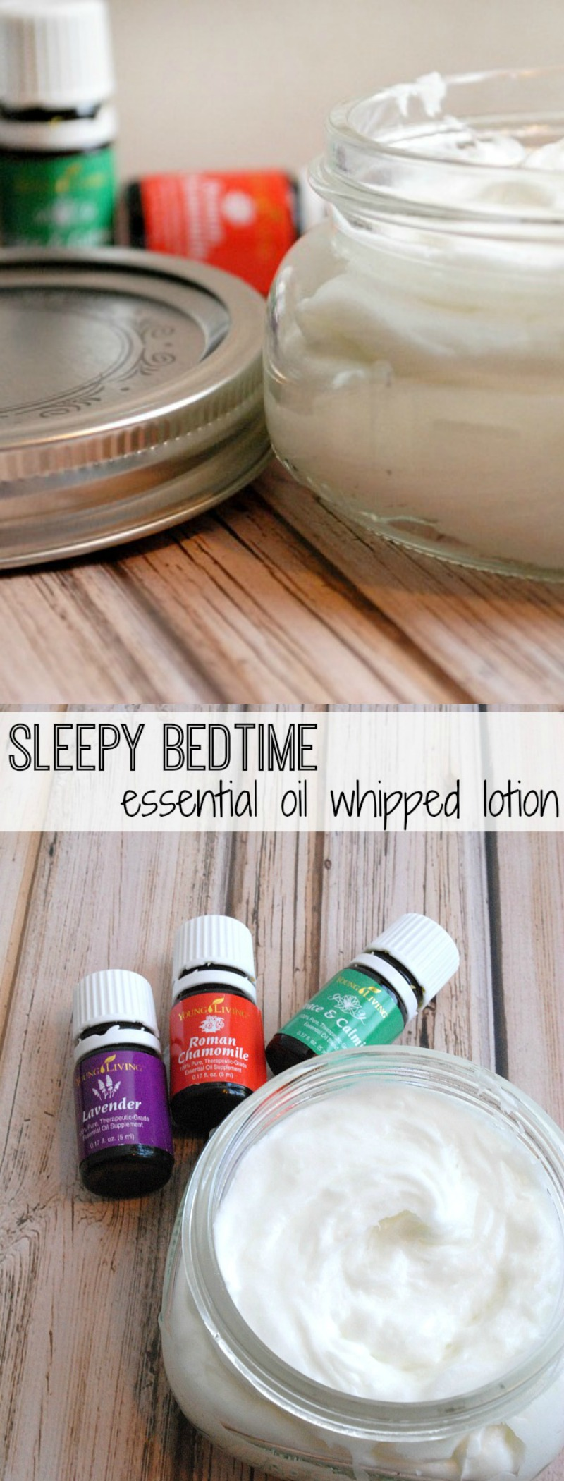 Sleepy Bedtime Whipped Lotion with essential oils