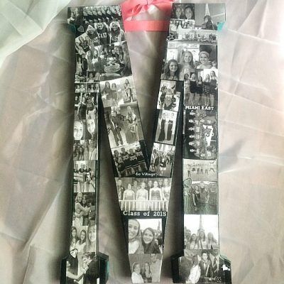 DIY High School Years Photo Collage Graduation Gift