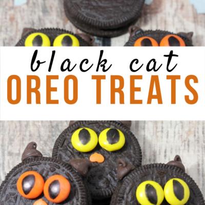 Halloween Black Cat Oreo Treats