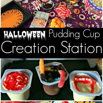 Halloween Pudding Cup Creation Station With Snack Pack