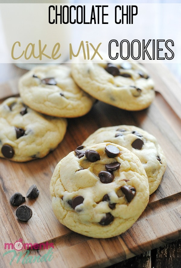 cookies made from chocolate chips and cake mix