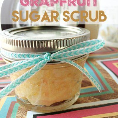 Eucalyptus Grapefruit Sugar Scrub DIY
