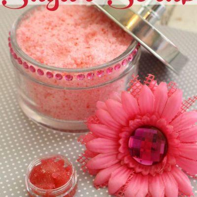 Raspberry Sugar Scrub + Exfoliating Lip Scrub