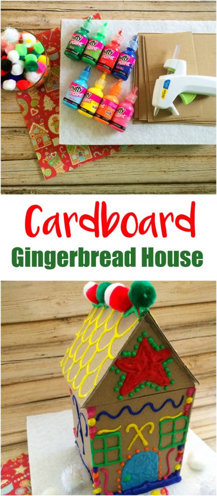 Cardboard Gingerbread House Craft Moments With Mandi