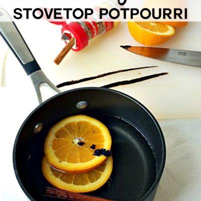 Cinnamon Orange Vanilla Stovetop Potpourri