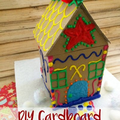 Make Your Own Cardboard Gingerbread House