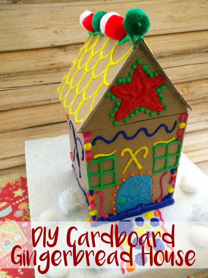 DIY Cardboard Gingerbread House