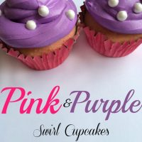 Pink and Purple Swirl Princess Cupcakes