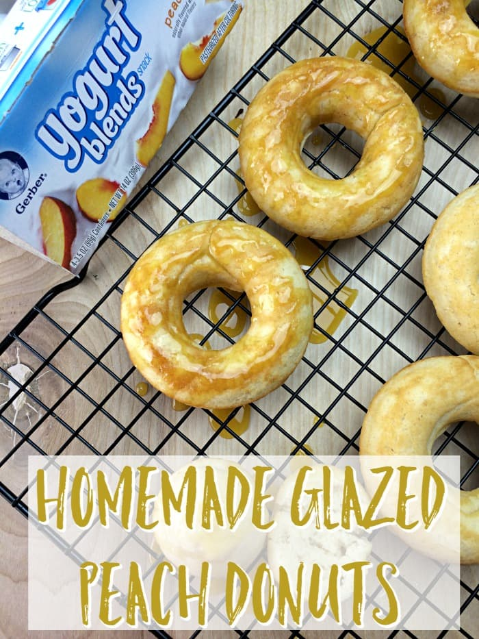 Homemade Glazed Peach Donuts