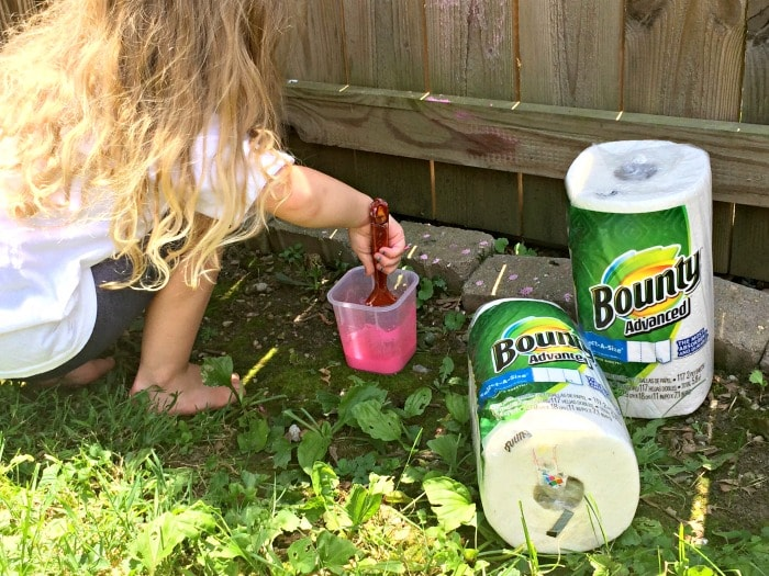 Bounty paper towels help moms clean up every mess