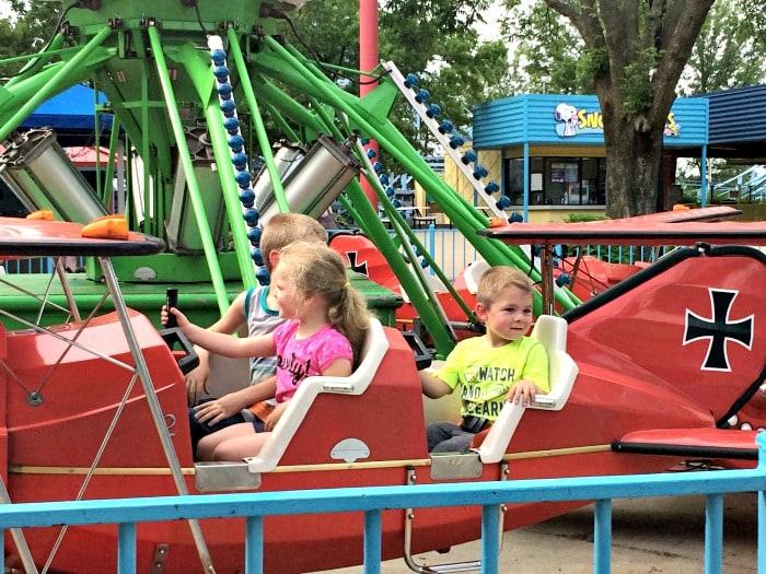 Kings Island Flying Baron kids ride