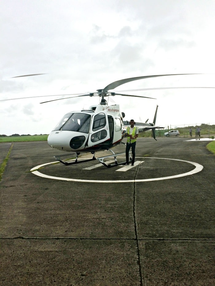St Lucia Helicopter airport to resort transfer