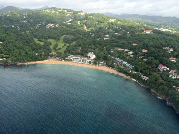 St Lucia Helicopter view