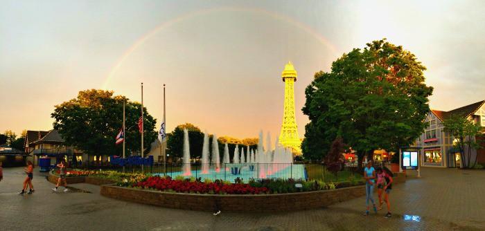 rainbow over Kings Island