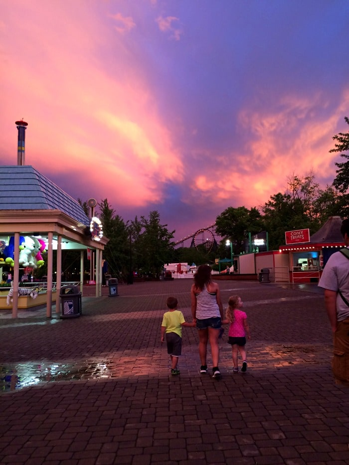 sunset after storm at Kings Island