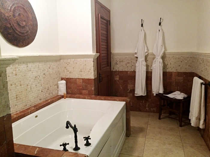 Cap Maison villa master bathroom with large tub and seperate toilet and shower