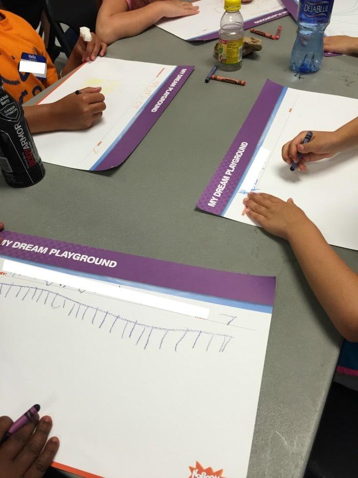 Children designing their dream playgrounds