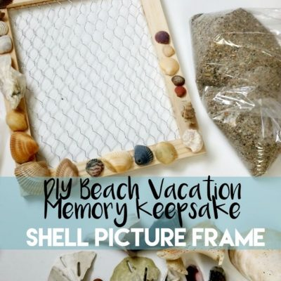 DIY Beach Vacation Memory Keepsake Shell Picture Frame