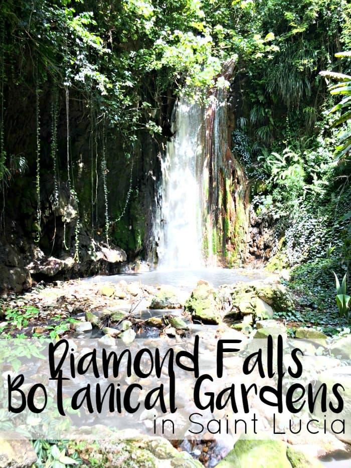 Diamond Falls Botanical Gardens in Saint Lucia