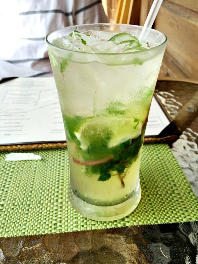 Mojito from The Naked Fisherman in Saint Lucia