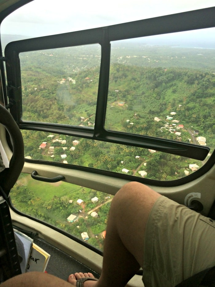 view from helicopter in Saint Lucia