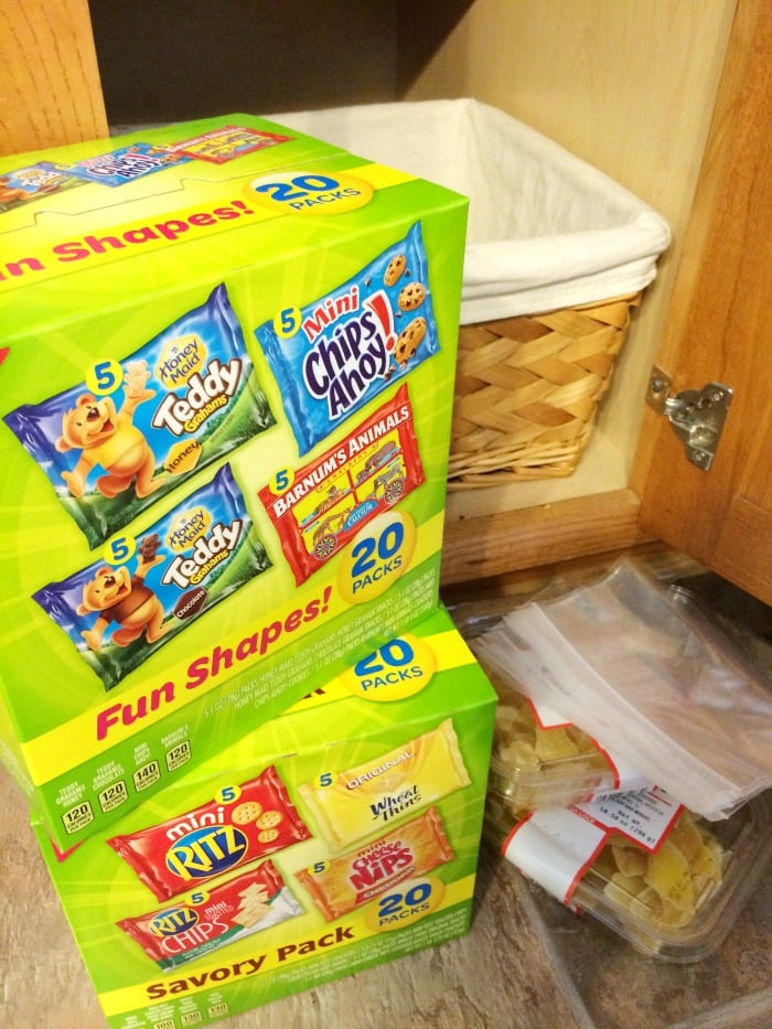 World's Easiest Grab and Go Snack Basket for Kids