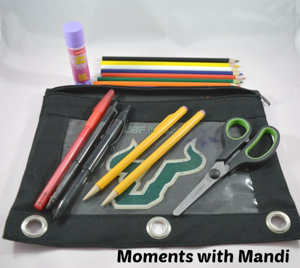 Keep pens & pencils organized with a soft pencil case.