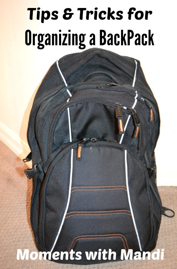 5 Tips & tricks for organizing a backpack. No more lost assignments or missing papers. Easy tips to keep your child's backpack organized.
