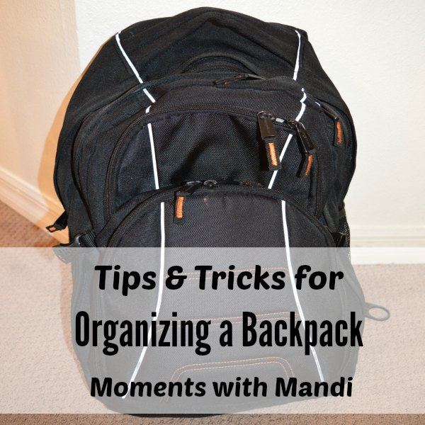 Keep your child's backpack organized. 5 Tips & tricks for organizing a backpack.