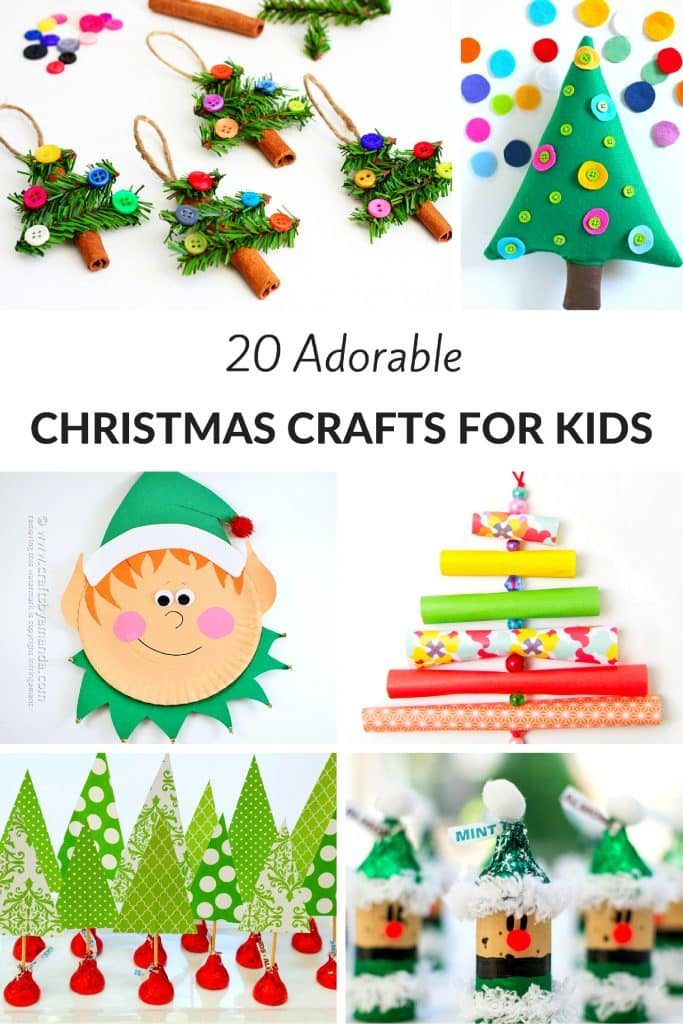 20 Adorable Christmas Crafts for Kids